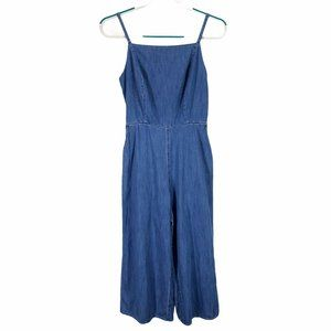 Old Navy Chambray Jumpsuit Small Cropped Wide Leg